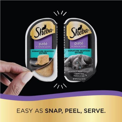 Sheba Perfect Portions Signature Seafood Entree Pate Wet Cat Food Perspective: left