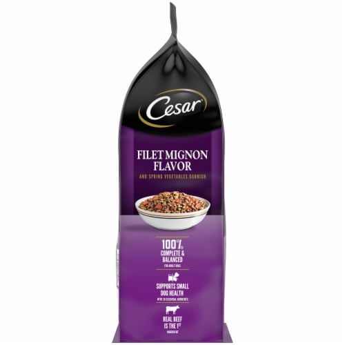 Cesar Filet Mignon Flavor Dry Dog Food Perspective: left