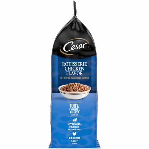Cesar Rotisserie Chicken Flavor Small Breed Adult Dry Dog Food Perspective: left