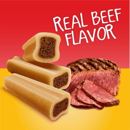 Pedigree Mini Jumbone Real Beef Flavor Dog Treats Perspective: left