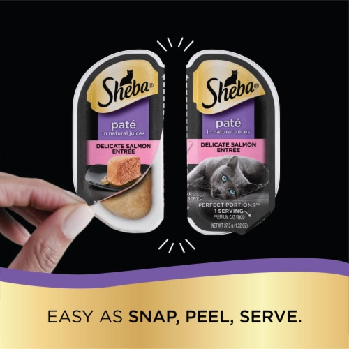 Sheba Perfect Portions Pate Chicken & Salmon Entree Premium Cat Food Multipack 12-1.32 oz Perspective: left