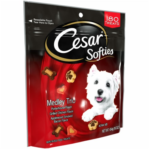 Cesar Softies Medley Trio Bite-Sized Dog Treats Perspective: left