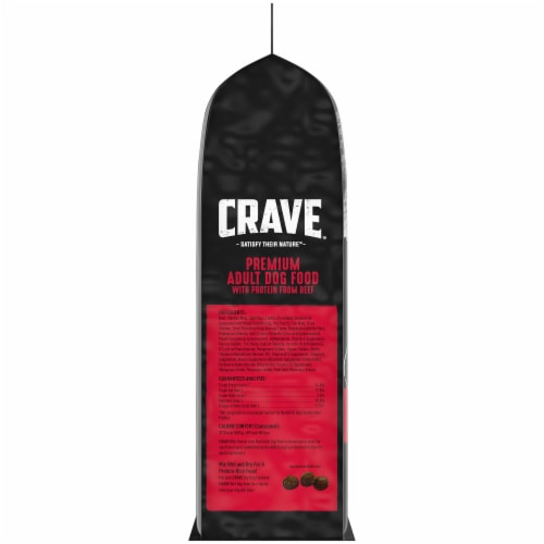 Crave with Protein From Beef Adult Dry Dog Food Perspective: left