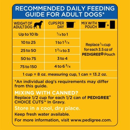 Pedigree High Protein Beef & Lamb Flavor Adult Dog Food Bonus Size Perspective: left