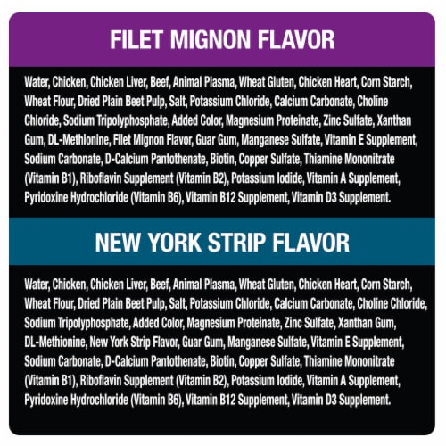 Cesar Filets in Sauce Wet Dog Food Variety Pack Perspective: left