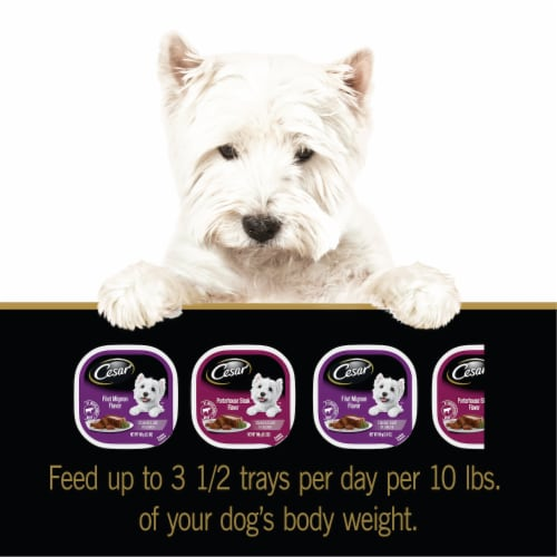 Cesar Classics Wet Dog Food Variety Pack Perspective: left