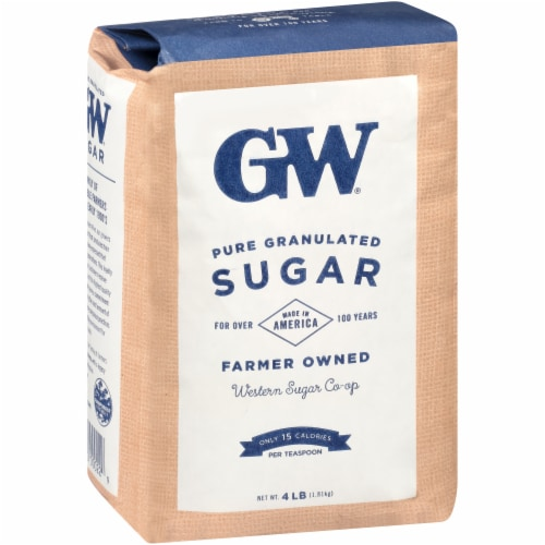 GW Pure & Natural Fine Granulated Sugar Perspective: left