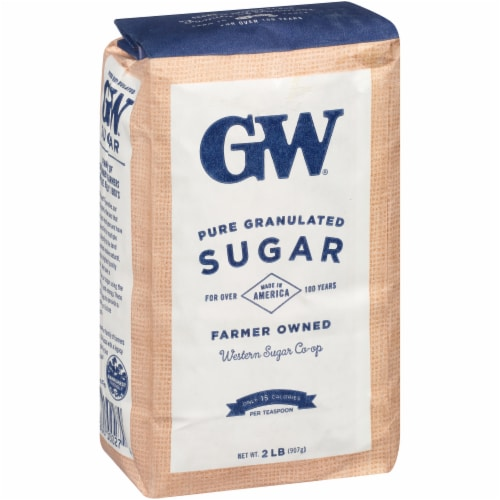 GW Extra Fine Granulated Pure Sugar Perspective: left