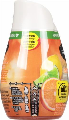 Renuzit Super Odor Neutralizer Clean Citrus Gel Air Freshener Perspective: left