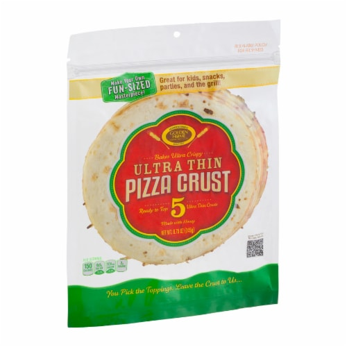 Golden Home Ultra Thin Pizza Crusts 5 Count Perspective: left
