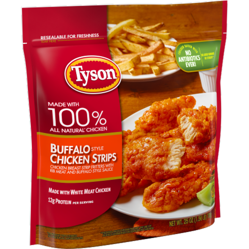 Tyson Fully Cooked Buffalo Style Chicken Strips Perspective: left
