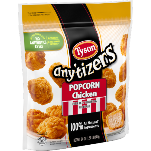 Tyson Any'tizers Popcorn Frozen Chicken Perspective: left