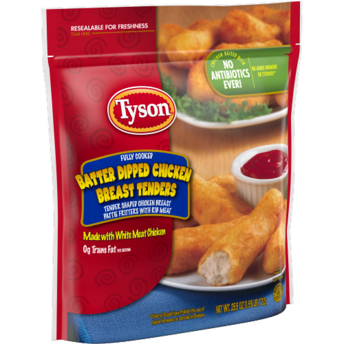 Tyson Batter Dipped Chicken Breast Tenders Perspective: left