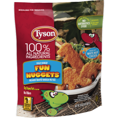 Tyson Fully Cooked Fun Nuggets with Whole Grain Breading Perspective: left