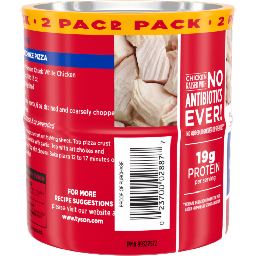 Tyson Premium Chunk White Chicken Twin Pack Perspective: left