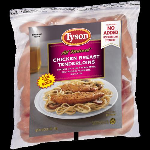Tyson Boneless Skinless Chicken Breast Tenderloins Perspective: left