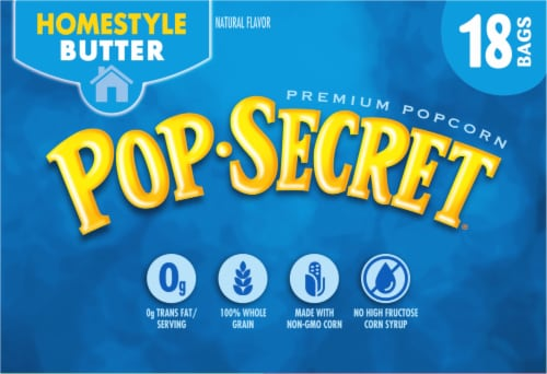 Pop Secret Homestyle Microwave Popcorn Perspective: left