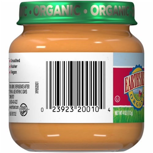 Earth's Best Organic Apples Stage 2 Baby Food Perspective: left