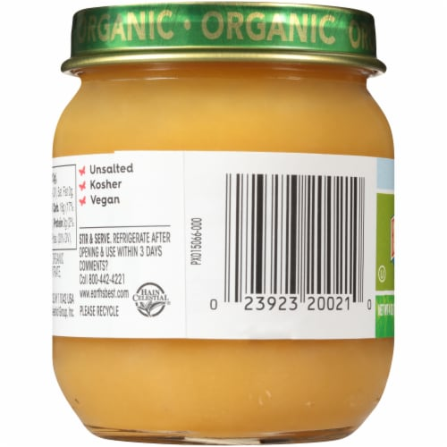 Earth's Best Organic Pears & Mangos Stage 2 Baby Food Perspective: left