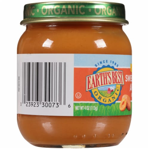 Earth's Best Organic Sweet Potato Apricot Stage 2 Baby Food Perspective: left