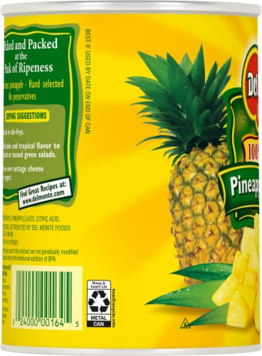 Del Monte Pineapple Chunks Perspective: left