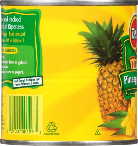 Del Monte® Pineapple Chunks in 100% Juice Perspective: left
