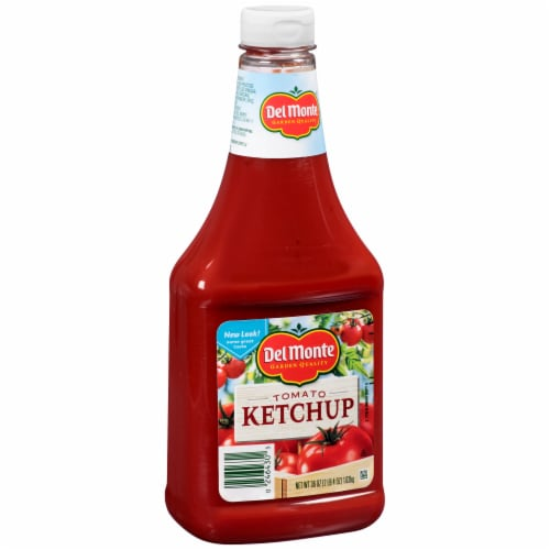 Del Monte Tomato Ketchup Squeeze Bottle Perspective: left