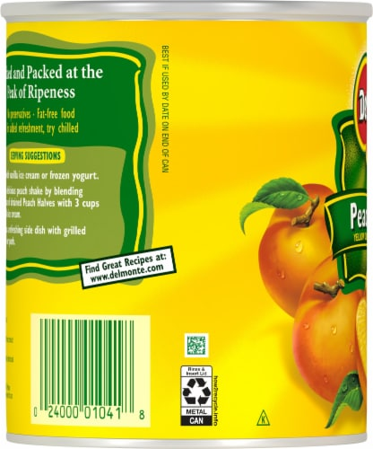Del Monte® Yellow Cling Peach Halves in Heavy Syrup Perspective: left