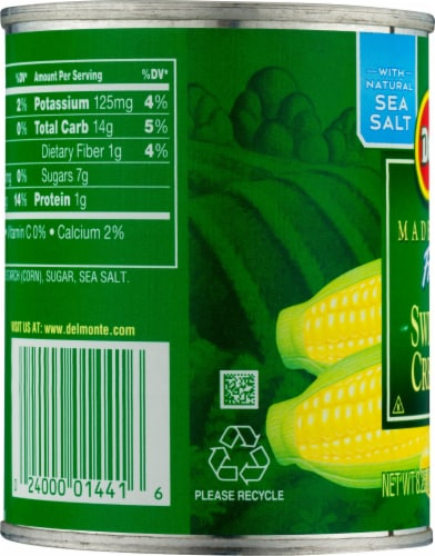 Del Monte® Fresh Cut Cream Style Sweet Corn with Natural Sea Salt Perspective: left