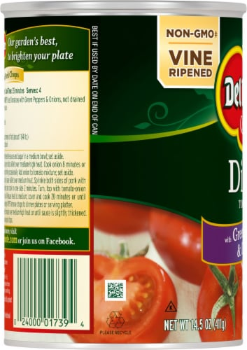 Del Monte® Diced Tomatoes with Green Pepper & Onions Perspective: left