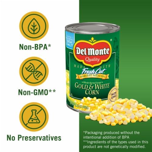 Del Monte® Fresh Cut® Harvest Selects® Whole Kernel Gold & White Corn Perspective: left