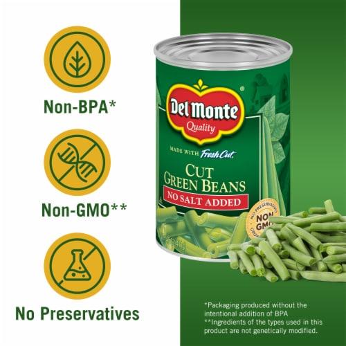 Del Monte® No Salt Added Fresh Cut Green Beans Perspective: left