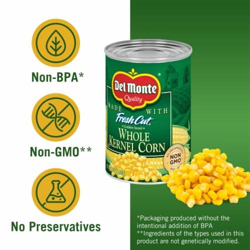 Del Monte® Fresh Cut® Golden Sweet Whole Kernel Corn with Natural Sea Salt Perspective: left