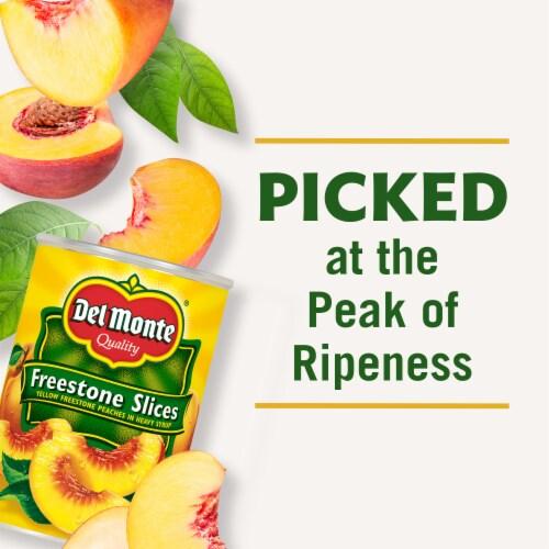 Del Monte® Yellow Freestone Slices Yellow Freestone Peaches in Heavy Syrup Perspective: left