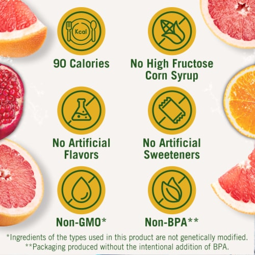 Del Monte Fruit Refreshers Grapefruit & Oranges in Pomegranate Fruit Water Fruit Cups 2 Count Perspective: left