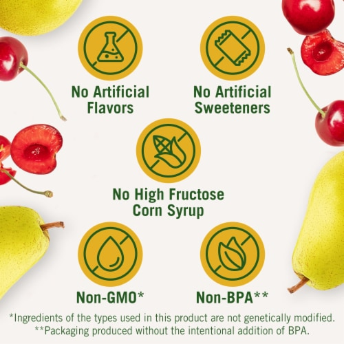 Del Monte Cherry Mixed Fruit Snack Cups Family Pack Perspective: left