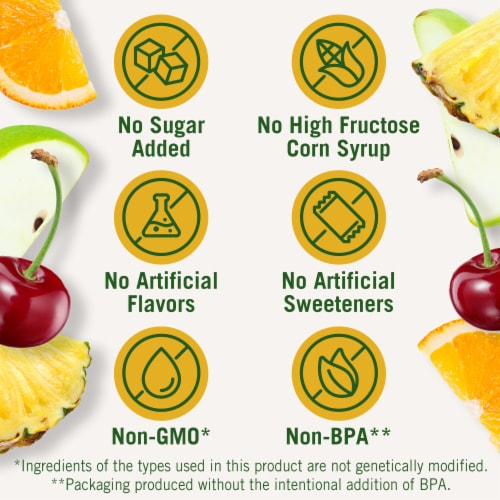 Del Monte No Sugar Added Fruit Cup Snacks Variety Pack Perspective: left