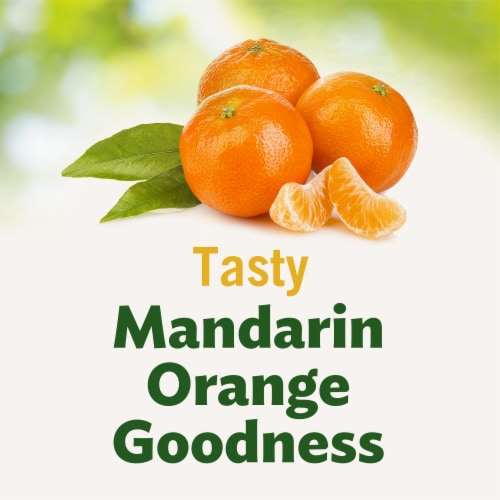 Del Monte No Sugar Added Mandarin Oranges Fruit Cups Snacks Family Pack Perspective: left