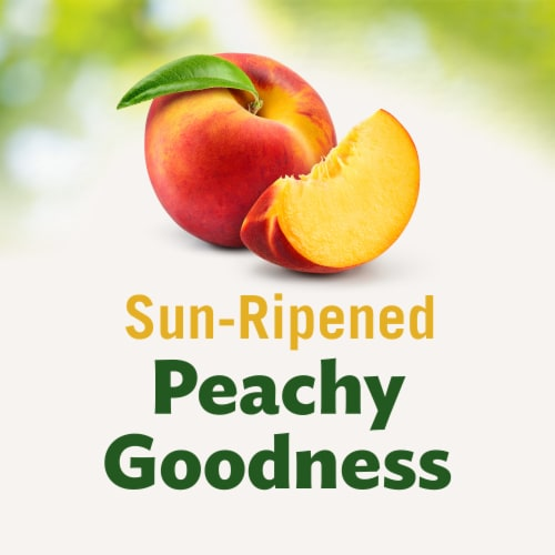 Del Monte No Sugar Added Diced Peaches Fruit Cup Snacks Family Pack Perspective: left