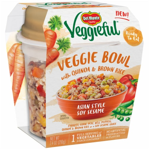 Del Monte Veggieful Asian Style Veggie Bowl Perspective: left