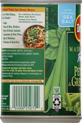 Del Monte Fresh Cut Blue Lake Petite Cut Green Beans Perspective: left