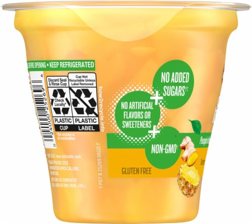 Del Monte® Gut Love Pineapple in Pineapple Ginger Flavored Juice Fruit Cup Perspective: left