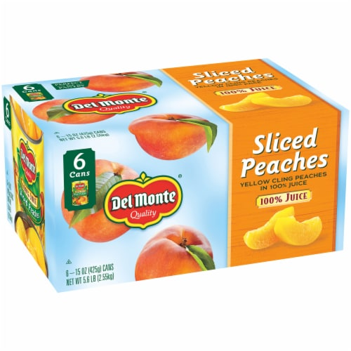 Del Monte Sliced Yellow Cling Peaches in Juice Perspective: left