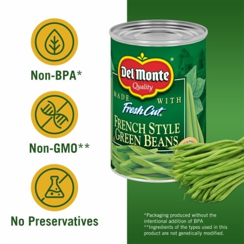Del Monte French Style Green Beans Perspective: left