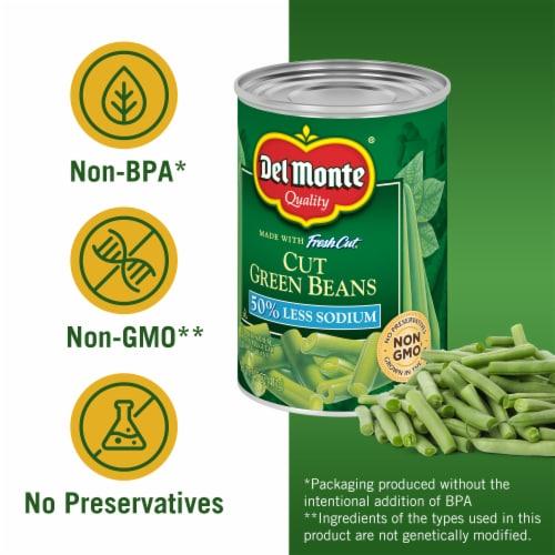 Del Monte® Fresh Cut Reduced Sodium Cut Green Beans Perspective: left