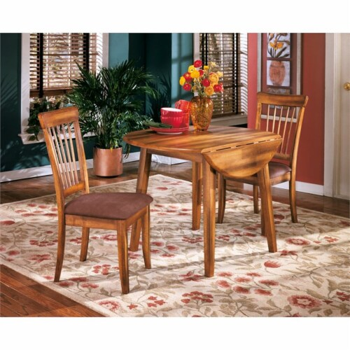 Ashley Berringer Microfiber Upholstered Dining Side Chair in Rustic Brown (set of 2) Perspective: left