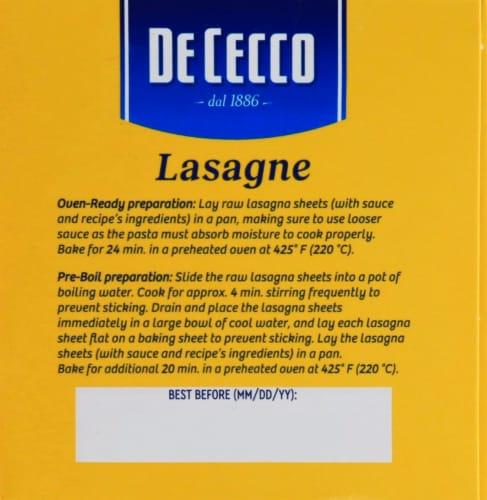 De Cecco Lasagne Pasta Perspective: left