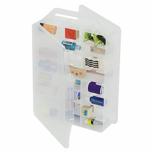 Creative Options® Double Sided Craft Carrier Storage Box Perspective: left