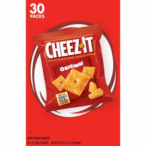 Cheez-It Original Baked Snack Crackers Pouches Perspective: left