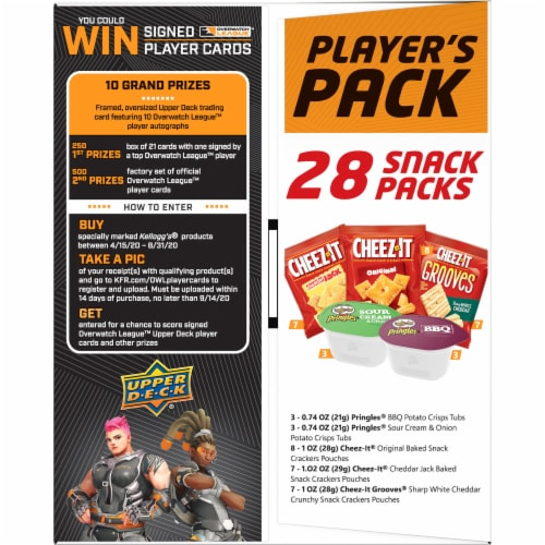 Cheez-It Overwatch Player's Pack Cracker Caddy Perspective: left